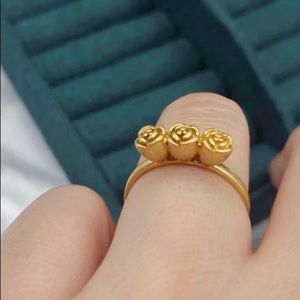 Bronze rose ring